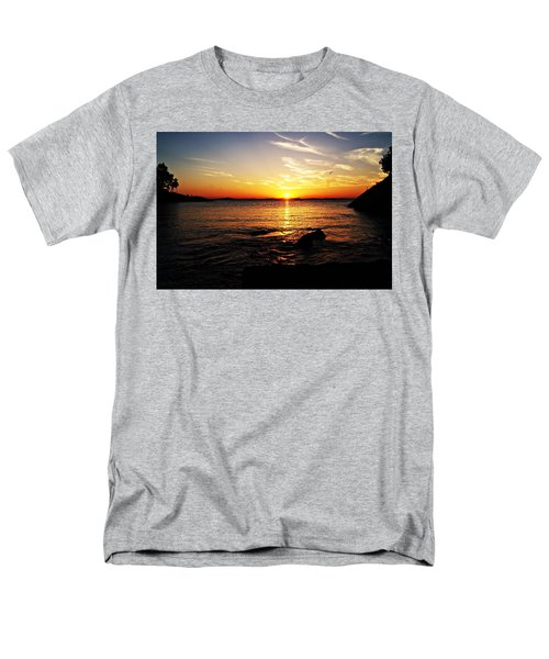 Plum Cove Beach Sunset G Men's T-Shirt  (Regular Fit) by Joe Faherty