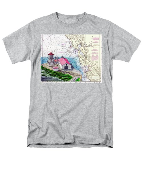 Point Reyes Light Station Men's T-Shirt  (Regular Fit) by Mike Robles