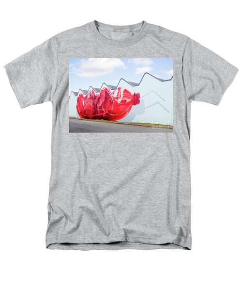 Men's T-Shirt  (Regular Fit) featuring the photograph Polar Bear In A Coke Bottle by Chris Dutton