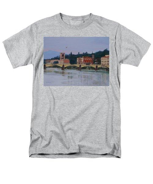 Pont Vecchio Landscape Men's T-Shirt  (Regular Fit) by Lynne Reichhart
