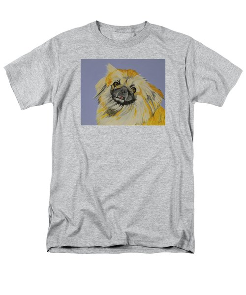 Men's T-Shirt  (Regular Fit) featuring the painting Poopan The Pekingese by Hilda and Jose Garrancho