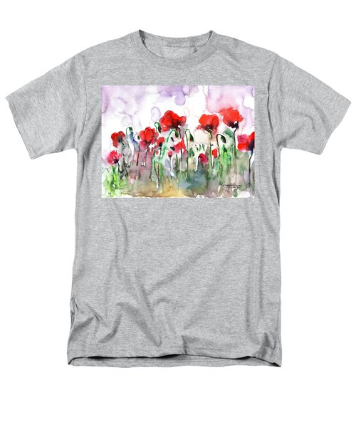 Men's T-Shirt  (Regular Fit) featuring the painting Poppies by Faruk Koksal