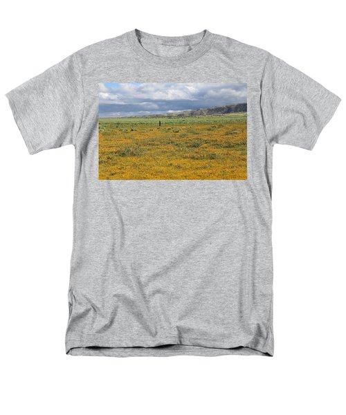 Poppies Field In Antelope Valley Men's T-Shirt  (Regular Fit) by Viktor Savchenko