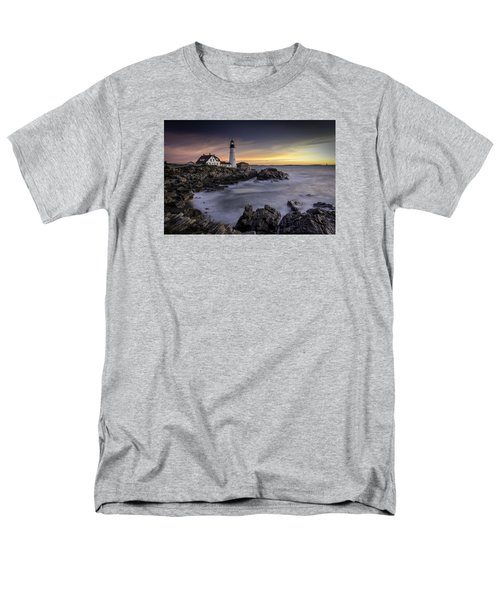 Portland Head Light Men's T-Shirt  (Regular Fit) by Fred LeBlanc