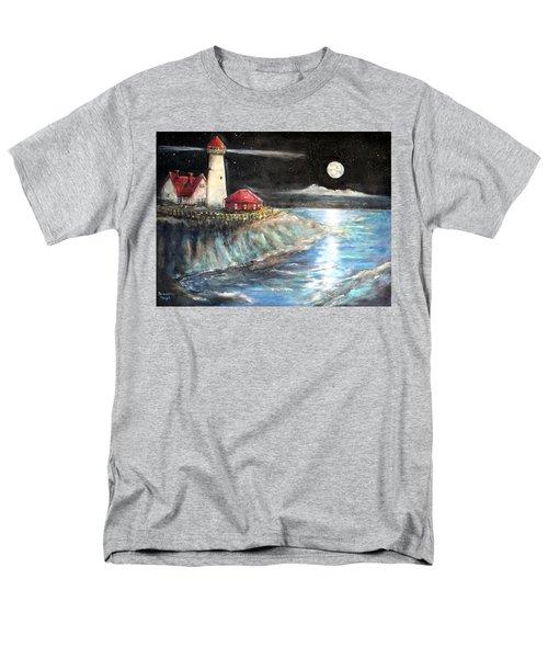Portland Maine Twilight Men's T-Shirt  (Regular Fit) by Bernadette Krupa