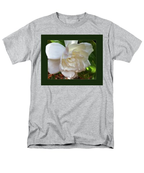 Men's T-Shirt  (Regular Fit) featuring the photograph Portrait Of A Gardenia by Ginny Schmidt