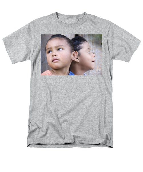 Men's T-Shirt  (Regular Fit) featuring the photograph Portrait Of Two Panama Girls by Heiko Koehrer-Wagner
