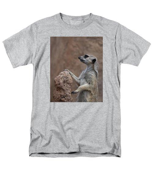Pose Of The Meerkat Men's T-Shirt  (Regular Fit) by Ernie Echols