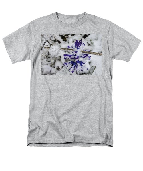 Men's T-Shirt  (Regular Fit) featuring the photograph Powder-covered Hyacinth by Deborah Smolinske