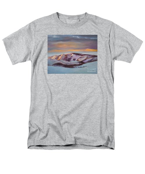 Men's T-Shirt  (Regular Fit) featuring the painting Powder Mountain by Marlene Book