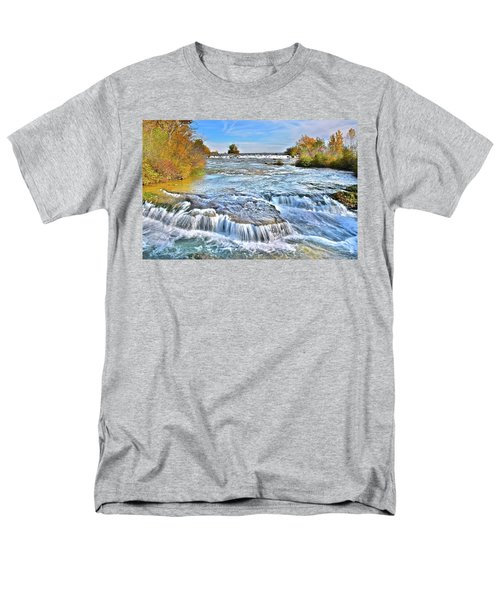 Men's T-Shirt  (Regular Fit) featuring the photograph Preparing For The Big Fall by Frozen in Time Fine Art Photography