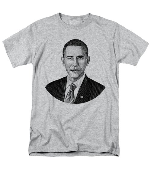 President Barack Obama Graphic Black And White Men's T-Shirt  (Regular Fit) by War Is Hell Store