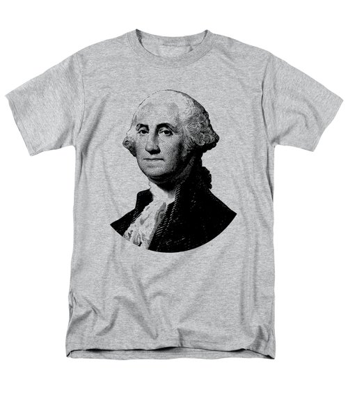President George Washington Graphic - Black And White Men's T-Shirt  (Regular Fit) by War Is Hell Store