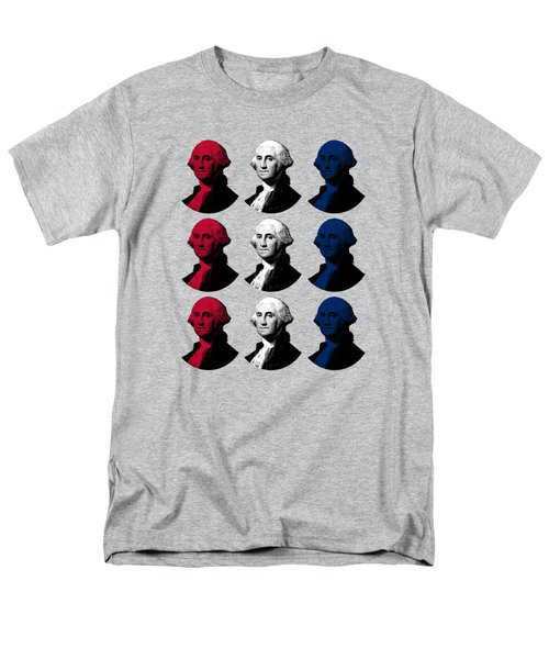 President George Washington - Red, White, And Blue  Men's T-Shirt  (Regular Fit) by War Is Hell Store