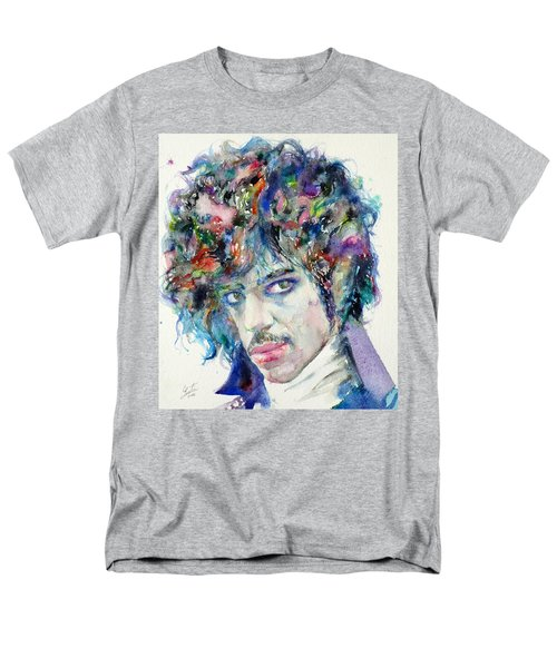 Prince - Watercolor Portrait Men's T-Shirt  (Regular Fit) by Fabrizio Cassetta