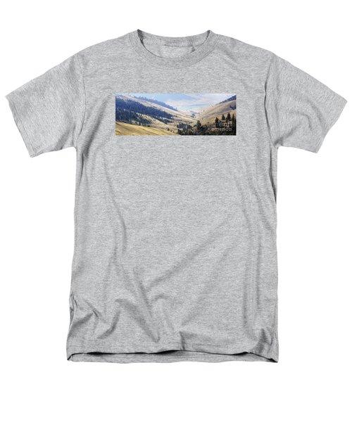 Pristine Panorama- National Bison Range, Montana Men's T-Shirt  (Regular Fit) by Janie Johnson