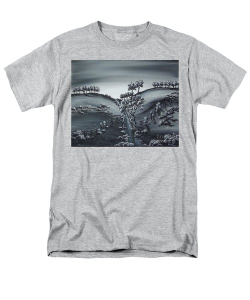 Men's T-Shirt  (Regular Fit) featuring the painting Private Road by Kenneth Clarke