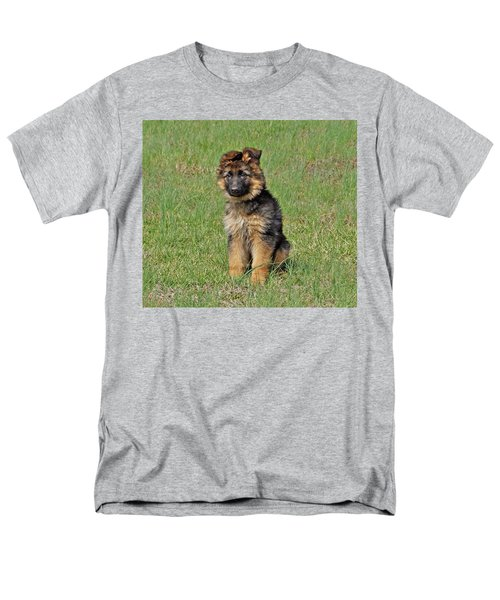 Men's T-Shirt  (Regular Fit) featuring the photograph Puppy Halo by Sandy Keeton