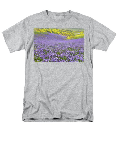 Purple  Covered Hillside Men's T-Shirt  (Regular Fit) by Marc Crumpler