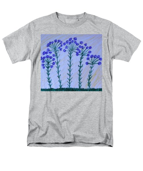 Purple Flowers On Long Stems Men's T-Shirt  (Regular Fit)