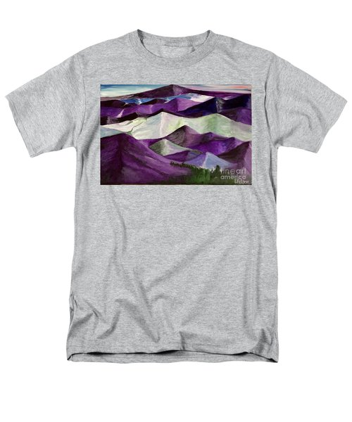 Men's T-Shirt  (Regular Fit) featuring the painting Purple Mountains Majesty by Kim Nelson
