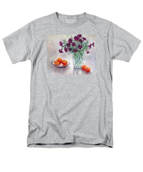 Purple Petunias And Oranges Men's T-Shirt  (Regular Fit)