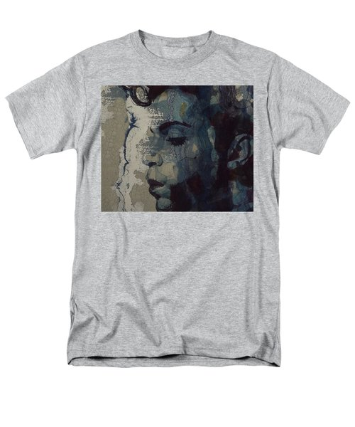 Men's T-Shirt  (Regular Fit) featuring the mixed media Purple Rain - Prince by Paul Lovering