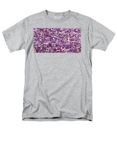 Men's T-Shirt  (Regular Fit) featuring the painting Purple Splatter by Thomas Blood
