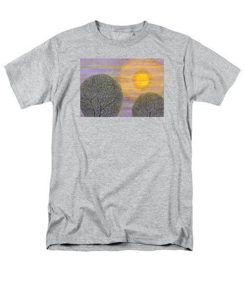 Purple Sunset Men's T-Shirt  (Regular Fit) by Charles Cater
