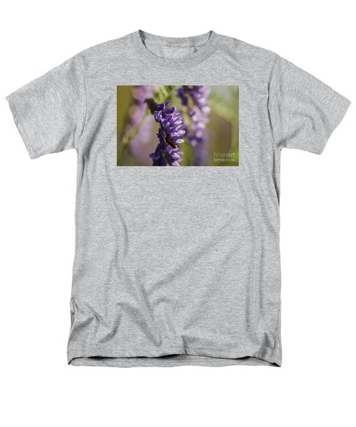 Purple Wildflowers Men's T-Shirt  (Regular Fit) by JT Lewis