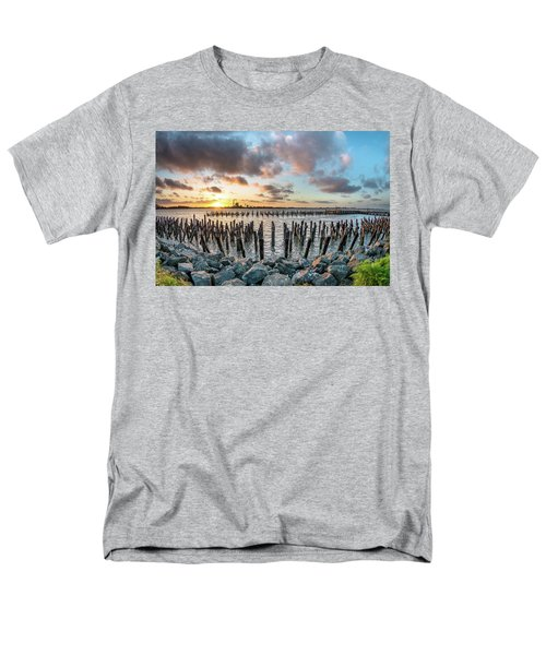 Men's T-Shirt  (Regular Fit) featuring the photograph Pylons Mill Sunset by Greg Nyquist