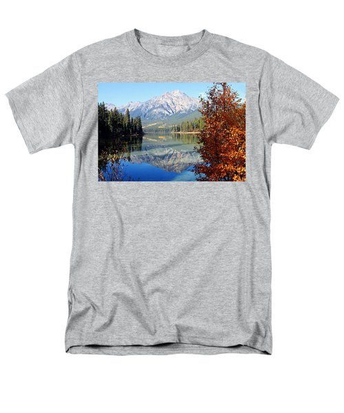 Pyramid Mountain Reflection 3 Men's T-Shirt  (Regular Fit) by Larry Ricker