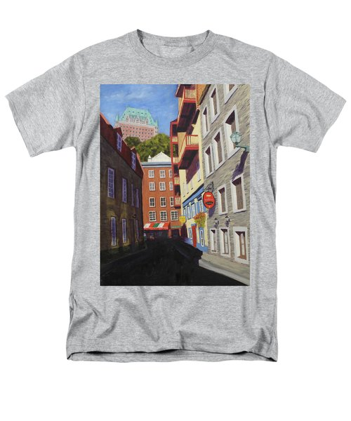Quebec City Side Street Men's T-Shirt  (Regular Fit) by Alan Mager