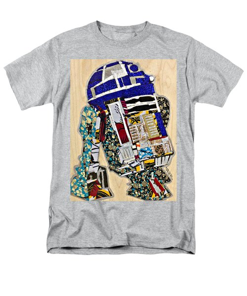 Men's T-Shirt  (Regular Fit) featuring the tapestry - textile R2-d2 Star Wars Afrofuturist Collection by Apanaki Temitayo M