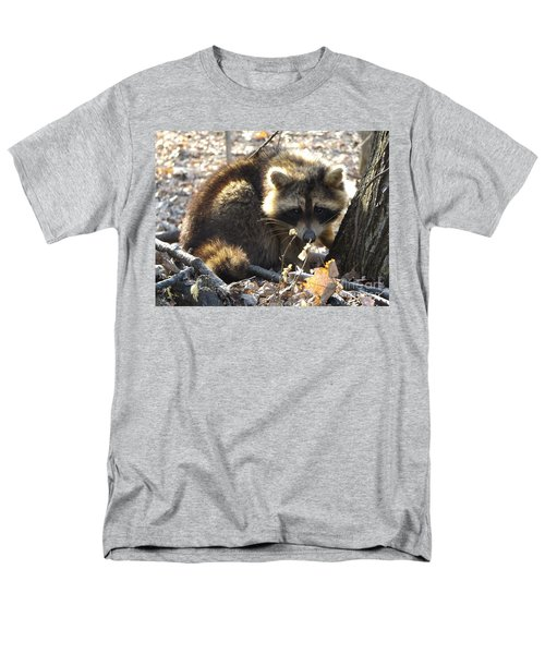Raccoon Men's T-Shirt  (Regular Fit) by Erick Schmidt