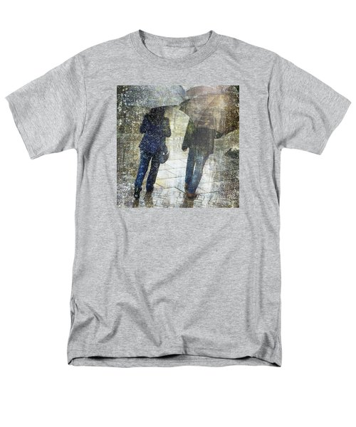 Rain Through The Fountain Men's T-Shirt  (Regular Fit) by LemonArt Photography