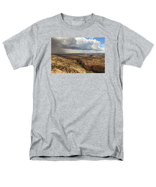 Men's T-Shirt  (Regular Fit) featuring the photograph Rain And Sun Over Calf Creek. by Johnny Adolphson