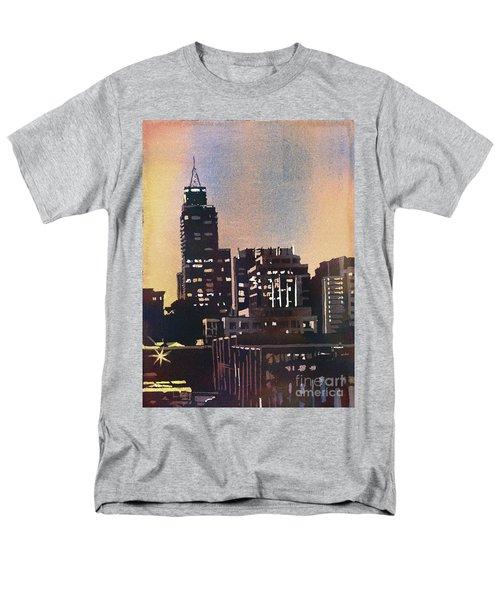 Raleigh Skyscrapers Men's T-Shirt  (Regular Fit) by Ryan Fox
