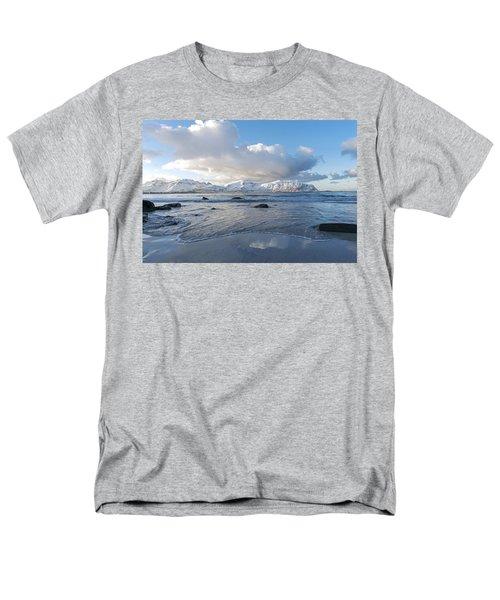 Ramberg Beach, Lofoten Nordland Men's T-Shirt  (Regular Fit) by Dubi Roman