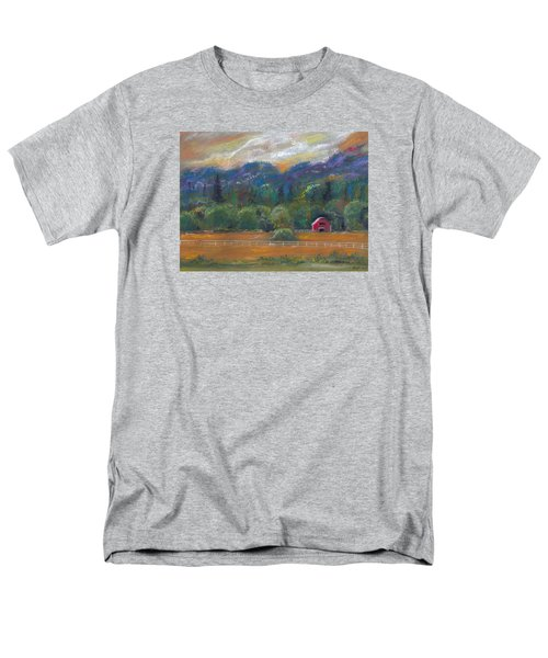 Red Barn Men's T-Shirt  (Regular Fit) by Clara Sue Beym