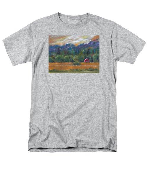 Red Barn Men's T-Shirt  (Regular Fit)