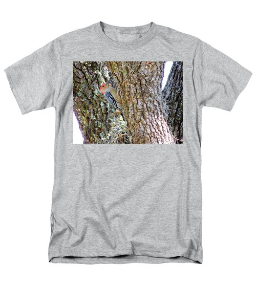 Red-bellied Woodpecker By Bill Holkham Men's T-Shirt  (Regular Fit) by Bill Holkham