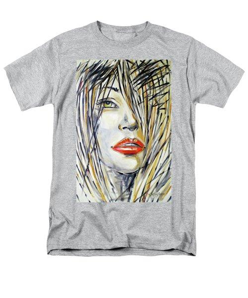 Red Lipstick 081208 Men's T-Shirt  (Regular Fit) by Selena Boron