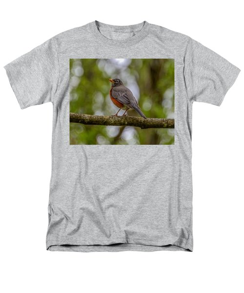 Men's T-Shirt  (Regular Fit) featuring the photograph Red Robin by Jerry Cahill