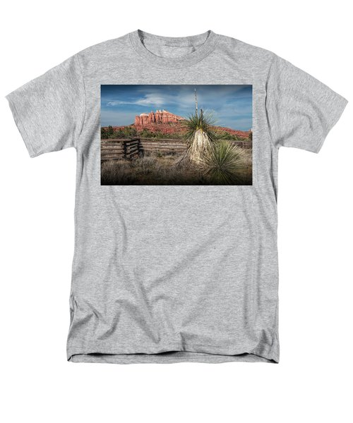Men's T-Shirt  (Regular Fit) featuring the photograph Red Rock Formation In Sedona Arizona by Randall Nyhof