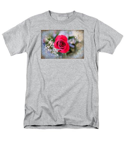 Red Rose Elegance Men's T-Shirt  (Regular Fit) by Milena Ilieva