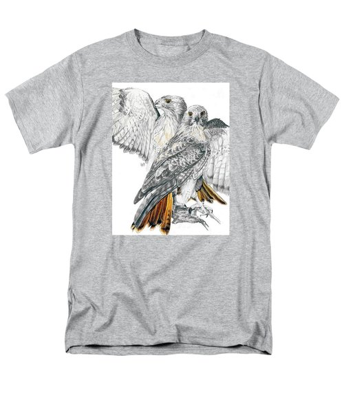 Red-tailed Hawk Men's T-Shirt  (Regular Fit) by Barbara Keith