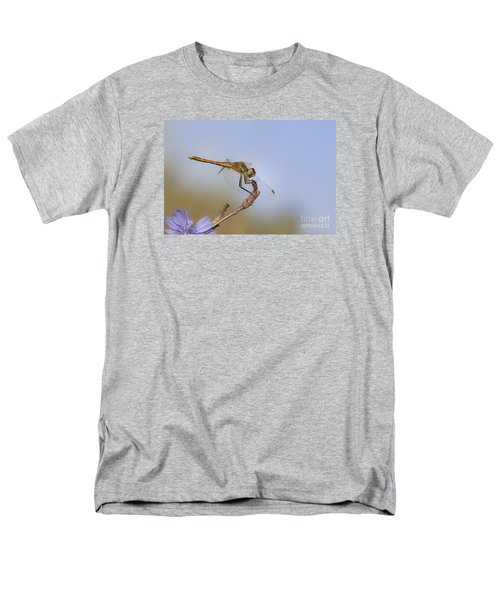 Men's T-Shirt  (Regular Fit) featuring the photograph Red Veined Darter Dragonfly by Jivko Nakev