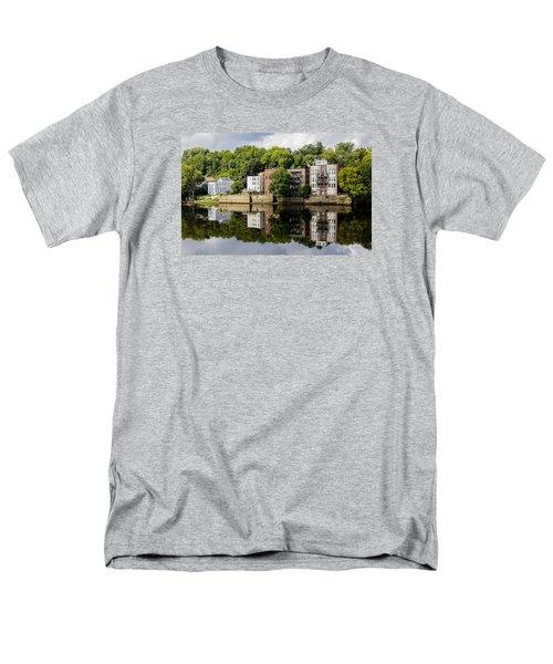 Reflections Of Haverhill On The Merrimack River Men's T-Shirt  (Regular Fit) by Betty Denise