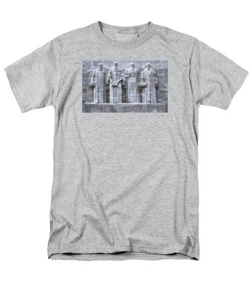 Reformers Wall, Geneva, Switzerland, Hdr Men's T-Shirt  (Regular Fit) by Elenarts - Elena Duvernay photo